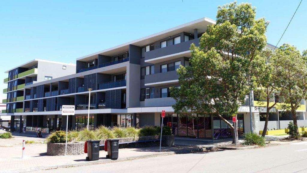 Lake Macquarie surveying development - Breakwater apartments at Belmont